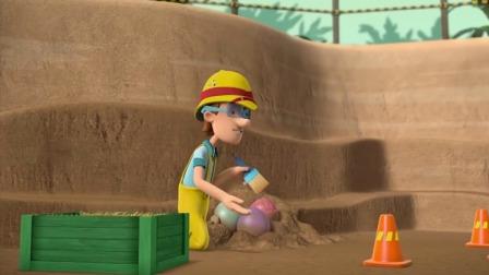 汪汪队立大功:小砾从土里挖到了彩蛋,真的太会挖了!
