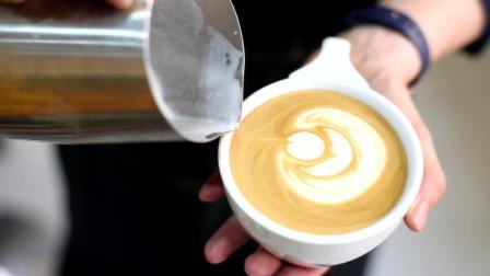 意式拿铁咖啡教学 咖啡拉花视频