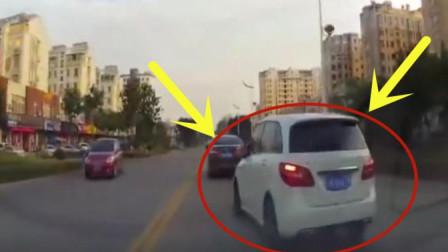 白色suv轿车司机强行加塞, 下一秒下车后后悔也来不及了