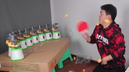 """一次性买十台乒乓球发球机是怎样的体验? 开启后堪比""""车祸现场"""""""