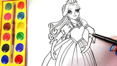 一起学画画跳舞的公主