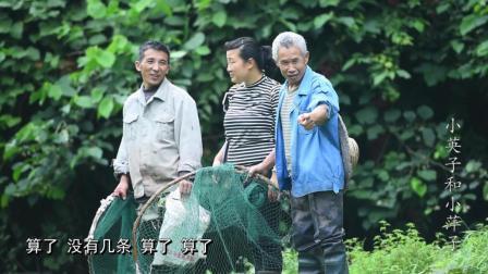 农村兄弟雨后捕鱼, 一网抓了27条鱼, 却只能喂猫
