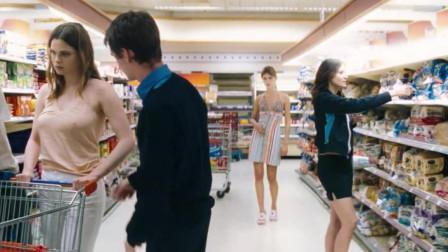 男孩意外停止了时间, 竟在超市给女孩画起了人体素描, 豆瓣7.8分