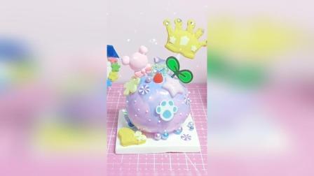 超轻粘土制作淋面蛋糕