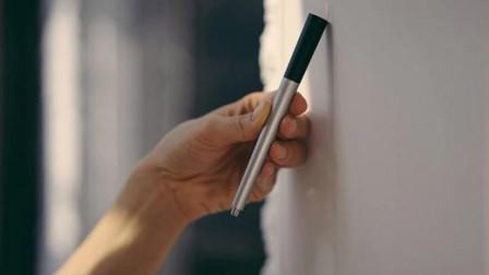 逼格满满的测量工具, 这支笔内置激光, 移动就能测量距离