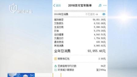 上海早晨 2019 中国新闻网:支付宝2018年度账单来了