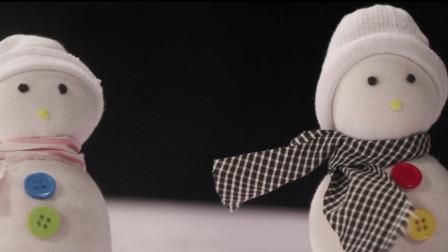 袜子简单几步变身萌萌哒的雪人玩偶