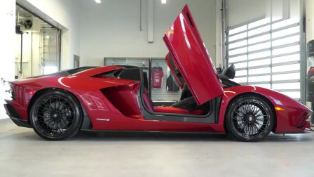 2019款兰博基尼LP740-4跑车, 这款红色太抢眼了!