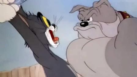 史派克这一手獠牙厉害了, 吓得汤姆掉了魂, 对杰瑞有亲有抱的, 哈哈!