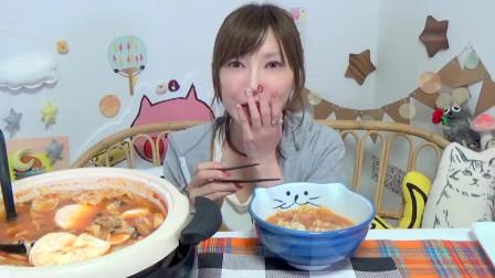 【木下大胃王】蕃茄卡芒贝尔起司火锅, 再搭配上意大利面, 这搭配简直完美, 看起来太好吃了