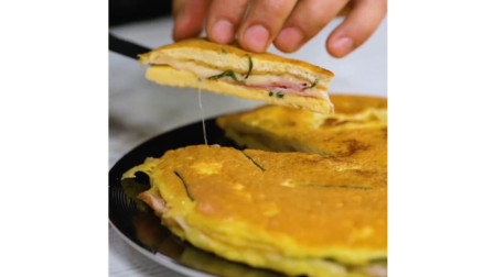 芝士培根鸡蛋饼制作教程, 这一份食谱请你快收下!