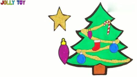 幼儿绘画, 给闪闪发光圣诞树装饰着色