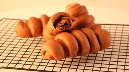 趁热吃的巧克力流心面包