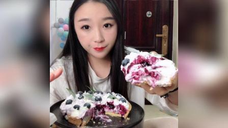 超级好吃的蓝莓塔, 我太有才了哈哈