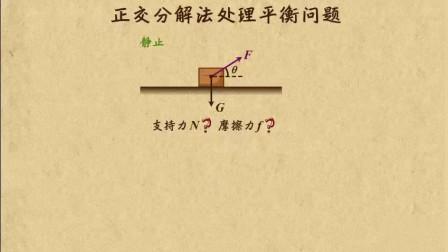 高中物理: 正交分解法处理平衡问题