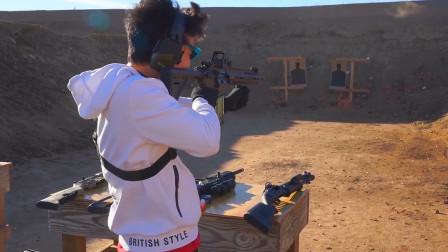 军迷亲身体验AR-15, 实弹压制效果超出心中MP5二倍