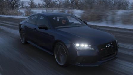 极限竞速 地平线4 奥迪RS7最高时速测试 轻轻松松300+ 奔驰C63 路虎 凯迪拉克 法拉利