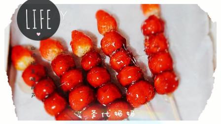 山楂梅果糖葫芦: 酸酸甜甜、开胃小点心