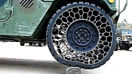 科普一下! 刷新你认知的4个轮胎, 轮胎不一定非要充气!