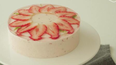 草莓芝士蛋糕 欧美风格甜食 超级好吃
