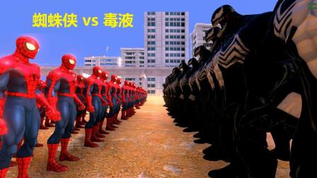 最强史诗模拟战 2000蜘蛛侠 vs 500毒液, 谁才是王牌?