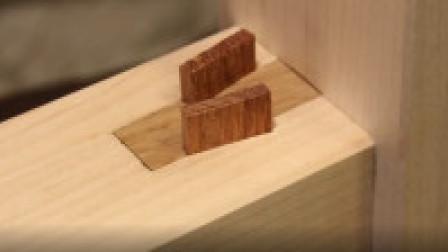 【榫卯结构 51】(日本细木工) 直角花键榫铰