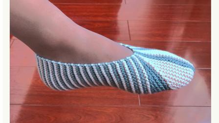 一片式地板袜,双色搭配,简洁漂亮最新花样大全