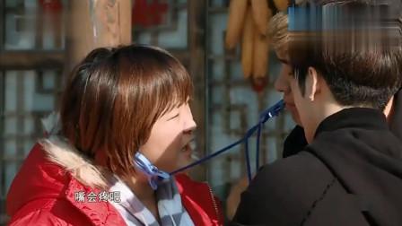 陈赫和贾玲痛并快乐着, 热巴看热闹不嫌事大, 隔着屏幕都疼