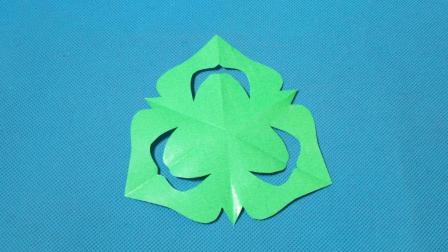 剪纸小课堂: 桃子纹样团花, 儿童喜欢的手工DIY, 动手又动脑