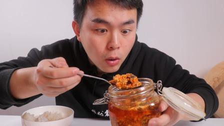 """试吃""""蟹黄酱拌饭"""", 一口就是一百多, 这碗盖饭也太贵太奢侈了"""