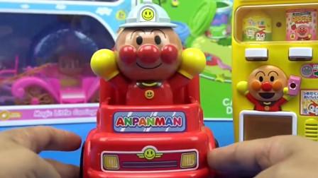会唱歌的消防车和饮料机儿童过家家玩具