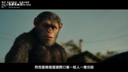 猿族面临前所未有的重创, 由此激发了凯撒内心中黑暗的一面, 心中燃起复仇的烈火