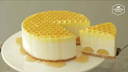 超治愈美食教程: 免烤蜂蜜芝士蛋糕No-Bake Honey Cheesecake