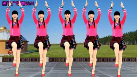 藏歌经典燕子广场舞《格桑拉》演唱: 降央卓玛, 豪迈大气, 好听又好看