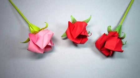 手工折纸, 花托的折法, 简单漂亮一学就会