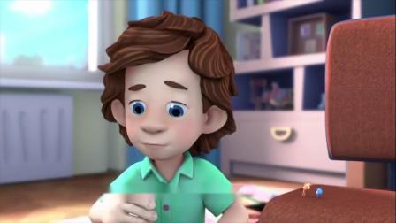 螺丝钉:吉姆和小西小诺在一起看动画片,动画片太精彩了