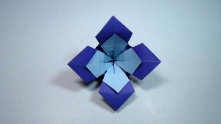 手工折纸, 牵牛花的折法, 步骤简单一学就会