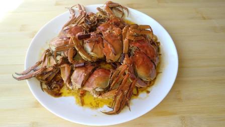 不会吃螃蟹? 试试这种做法, 香喷喷的香辣大闸蟹!