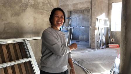 清香家新房装窗户, 36个窗户花了2万多, 泥土哥说价格实惠真不贵