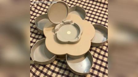 为过年入手的花瓣旋转糖果盒, 一转花开富贵