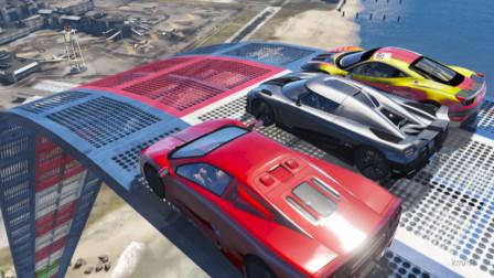 GTA5 三辆超级跑车飞跃机场, 哪辆是飞跃之王
