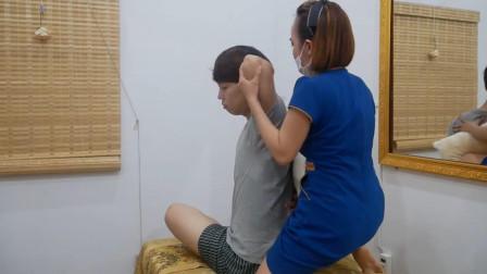 传统的越南脊椎拉伸, 放松脊椎压力, 做完很舒服
