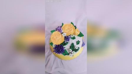 第一次做韩式裱花蛋糕!