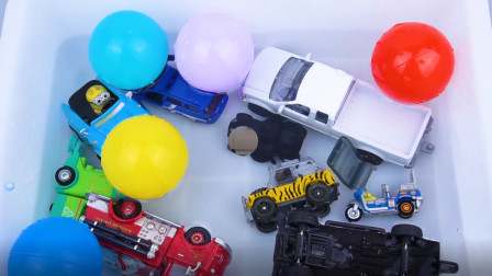学习认识消防车 嘟嘟车等多种汽车 汽车玩具屋