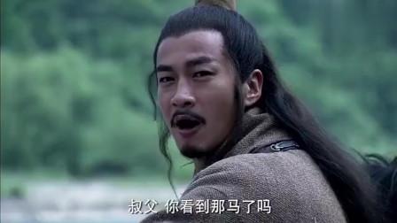 《楚汉传奇》: 项羽看到虞姬和骏马, 想全部拥为己有, 可是老丈人就在旁边