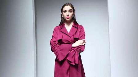 2019春装新款 欧美气质女装显瘦中长款风衣外套长袖优雅时尚女装