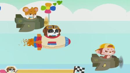 小浩宇带你玩宝宝巴士 宝宝巴士儿童游戏之宝宝飞行员 和飞行员奇奇一起探索太空