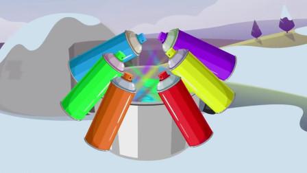 几十种不同颜色的油漆混合后, 你猜会变成什么颜色? 一起来见识下