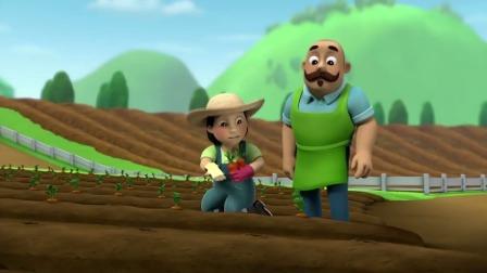 汪汪队立大功:农夫由美和波特先生看到红萝卜长进土里,是兔子!