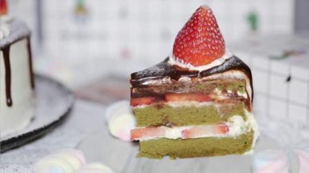 日式草莓抹茶蛋糕, 简直是要了抹茶控的命
